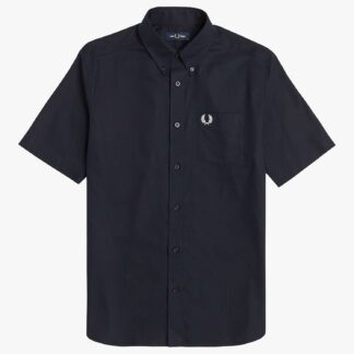 Fred Perry Short Sleeve Oxford Shirt, Navy 608